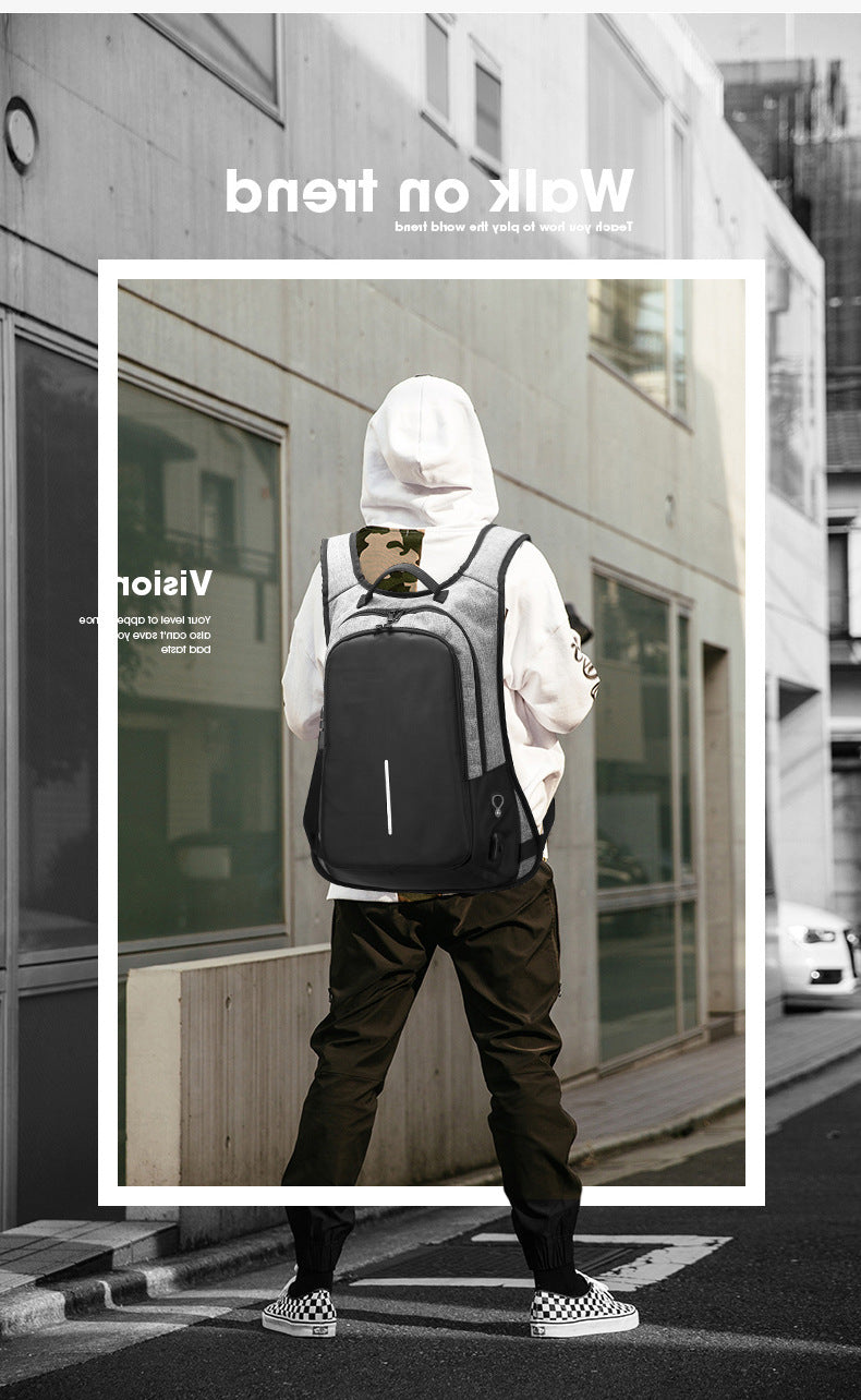 Security anti-theft backpack [Scratchproof Waterproof Rechargeable]