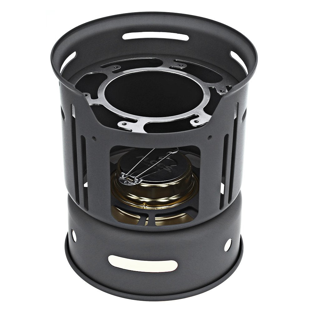 Cool knight Alocs portable Alcohol Stove 1-2 person 7pcs kitchenware set Outdoor Hiking Camping picnic