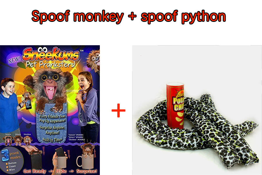 TRICKY SCARY BIG PYTHON MISCHIEVOUS GIFT TOY