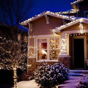 Waterproof LED Rope Fairy Lights Solar Power Lamp Patio Garden Path Lights Christmas Outdoor, Wedding, Party Decorating Lighting