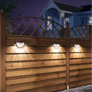 (Now Buy five pieces and pay only for the price of three items)OTHWAY Solar Fence Post Lights Wall Mount Decorative Deck Lighting