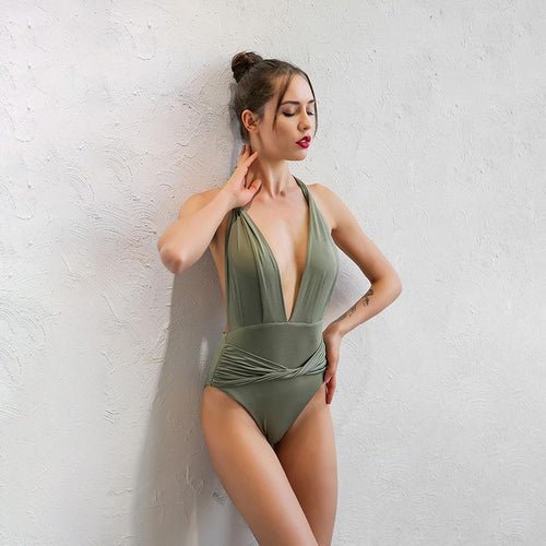 Bodysuits - Deep V Body Suit