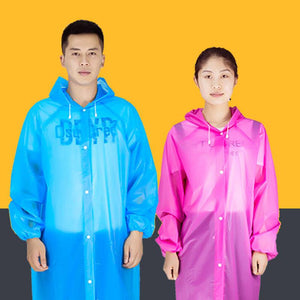 Transparent Waterproof Raincoat - Bunny Hop Travels Shop