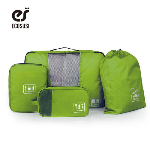 Travel Organiser - Travel Storage Bag (4 Pcs)