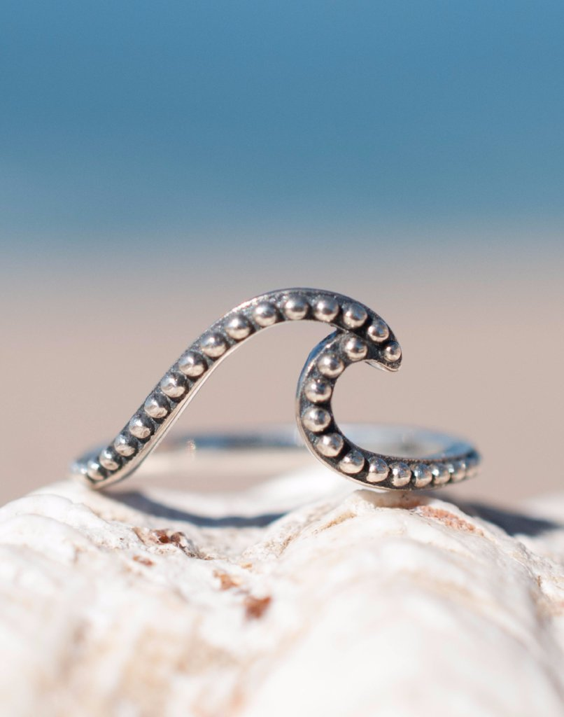 Copacabana Wave Ring ~Sterling Silver 925~ SMR005 - Maresia Jewelry