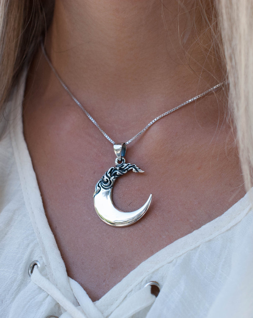 Half Moon Pendant ~ Sterling Silver - Maresia Jewelry