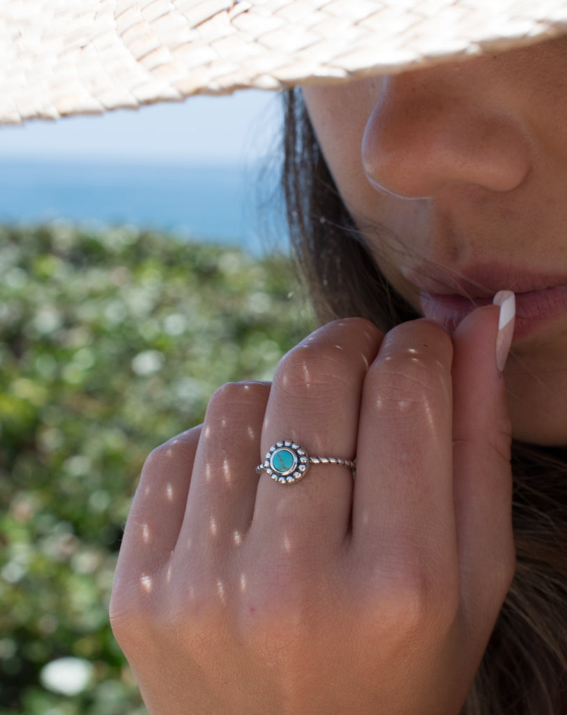 Rio Tavares Turquoise Ring ~ Sterling Silver 925~SMR023 - Maresia Jewelry