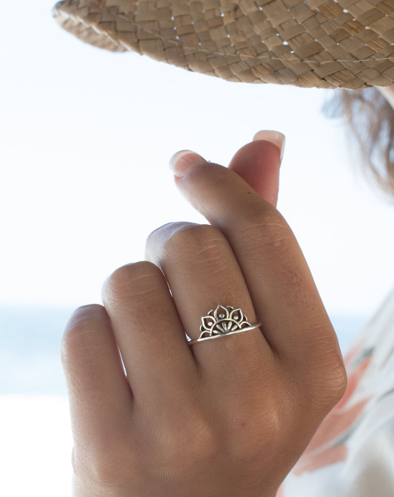 Mandala Ring~ Sterling Silver 925~ SMR030 - Maresia Jewelry