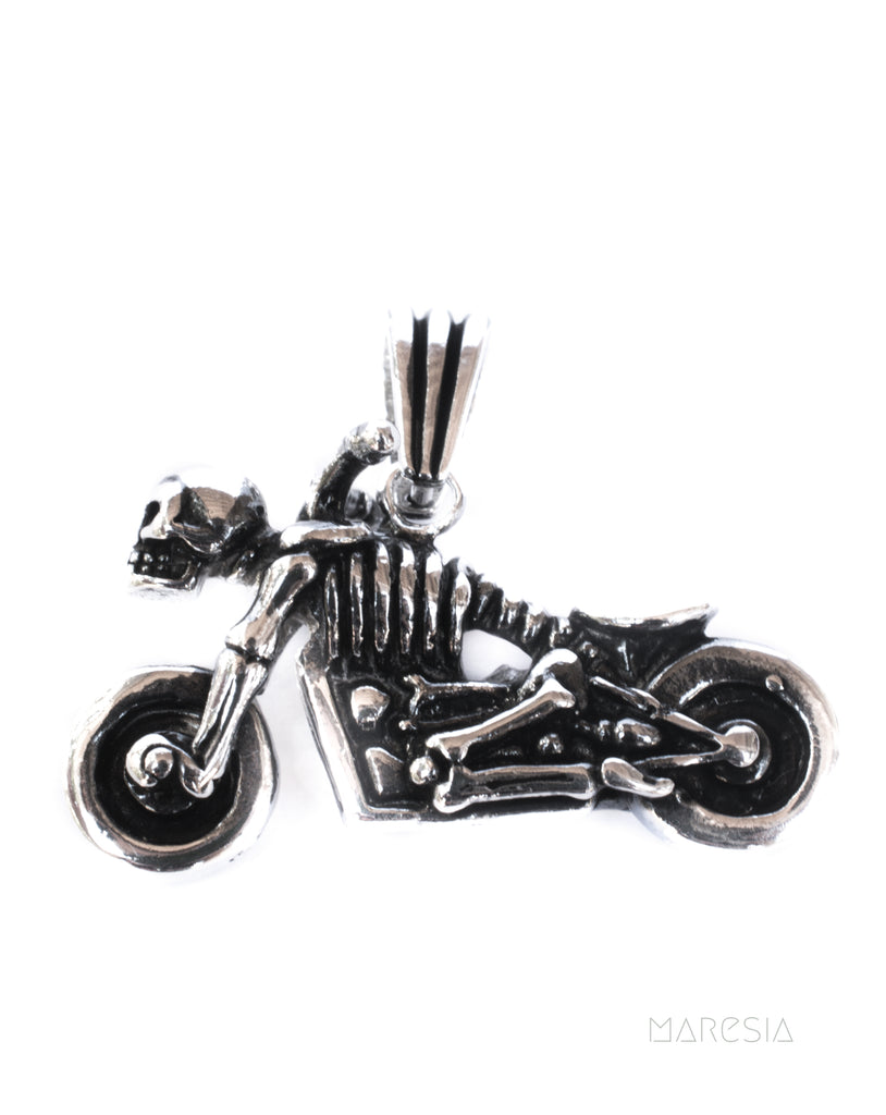 Motorcycle Men's Pendant ~ Sterling Silver 925 ~
