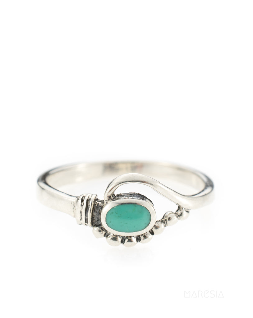 Jujuca Turquoise Ring ~ Sterling Silver 925~ SMR - Maresia Jewelry