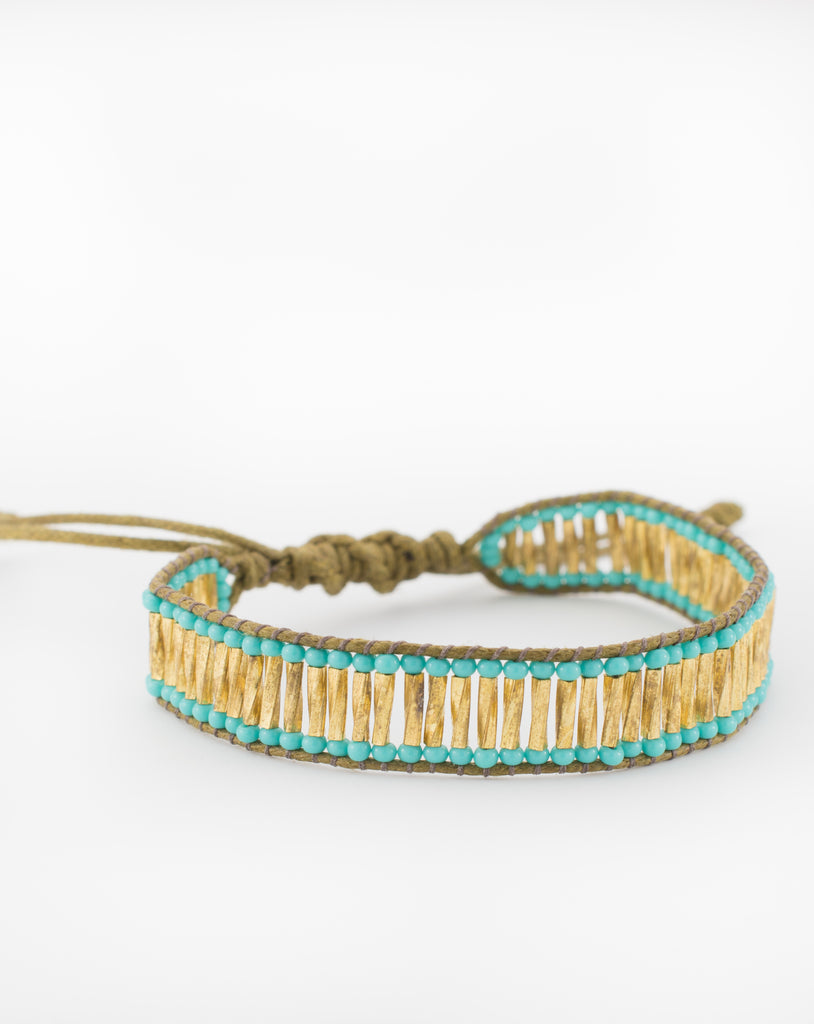 Golden Beads Bracelet - Maresia Jewelry