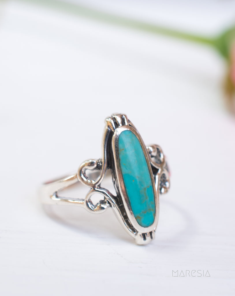 Cassia Turquoise Ring ~Sterling Silver 925~SMR039