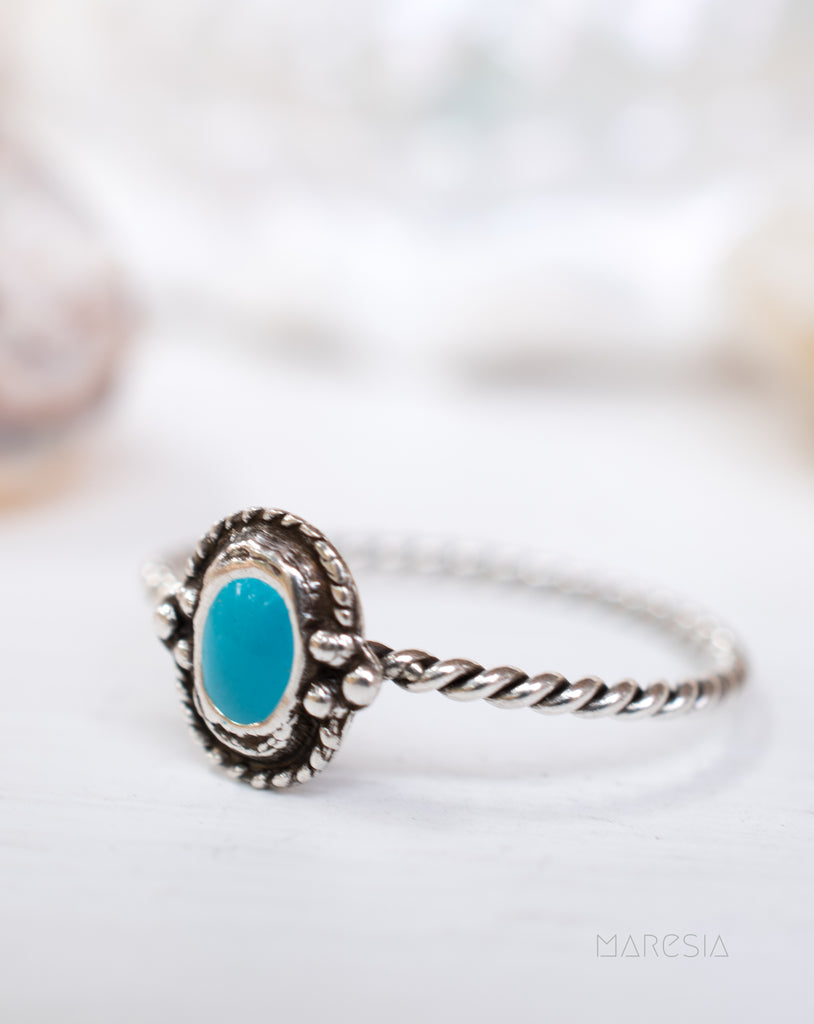 Turquoise Ring ~Sterling Silver 925~SMR024