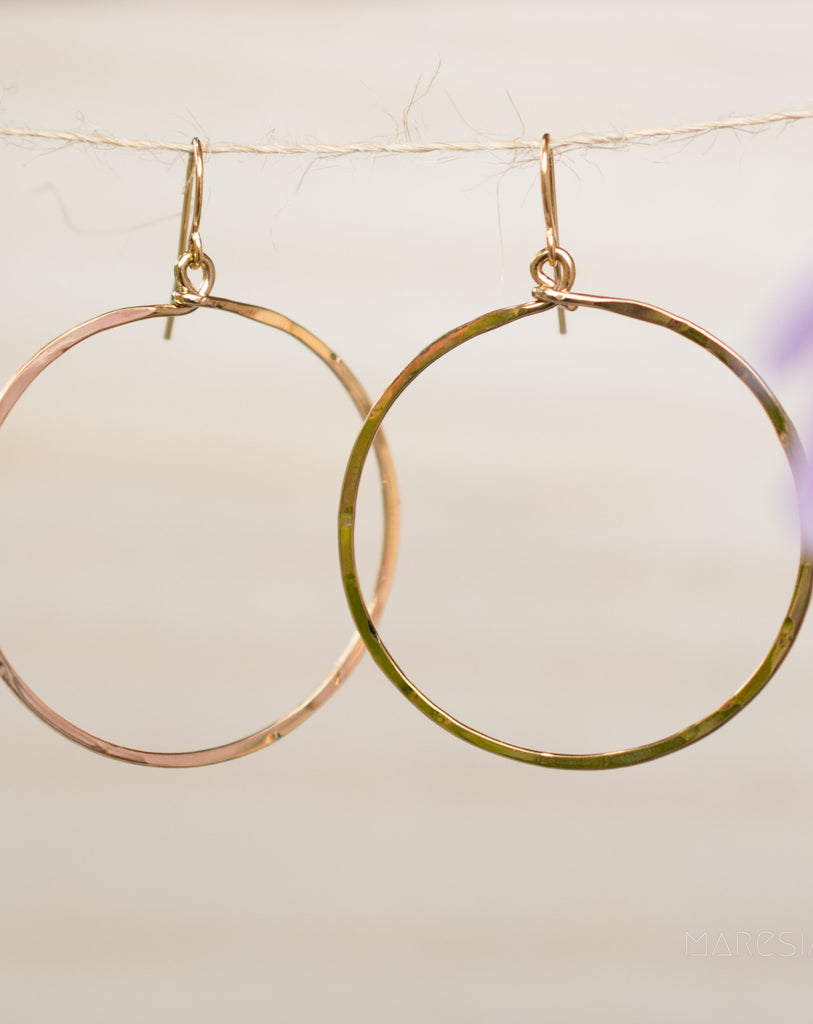 Circle Earrings ~Gold Plated or Silver Plated ~ SME001 - Maresia Jewelry