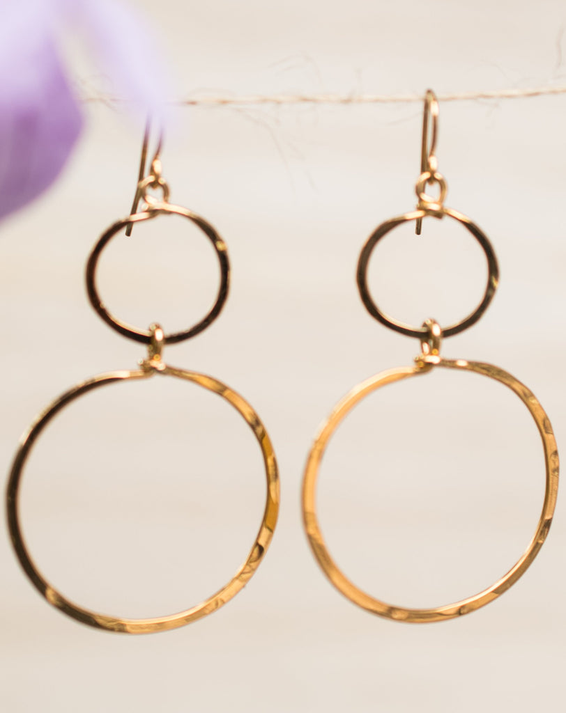 Bia Double Circle Earrings ~Gold Plated or Silver Plated ~ SME022 - Maresia Jewelry