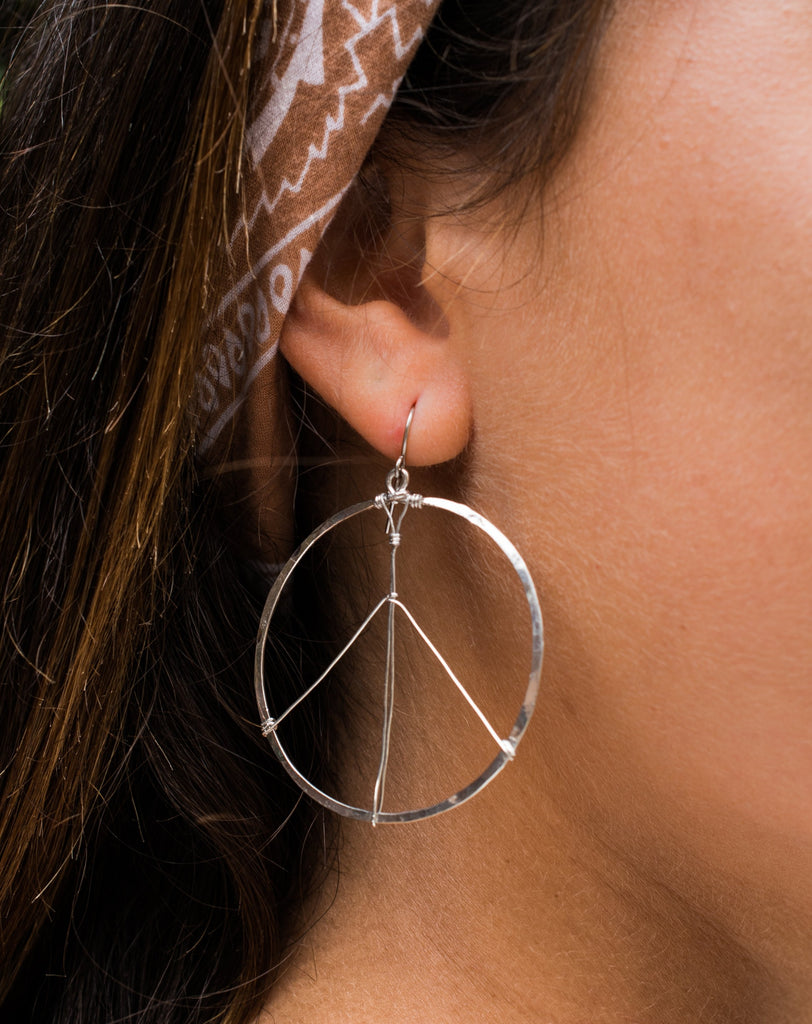 Peace Circle Earrings ~Gold Plated or Silver Plated ~ SME006 - Maresia Jewelry