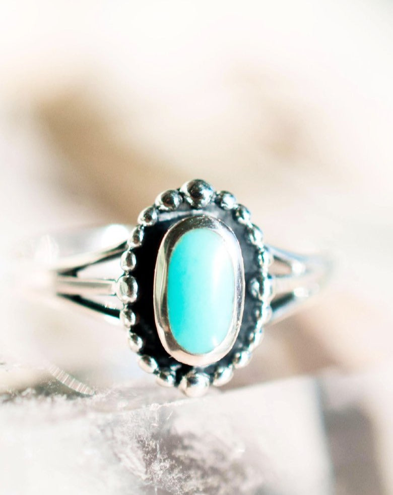 Pipeline Turquoise Ring ~ Sterling Silver 925~SMR009 - Maresia Jewelry