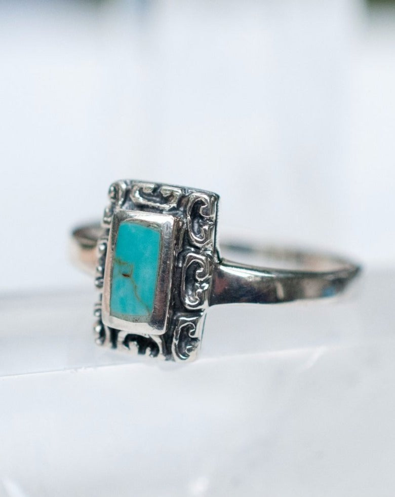 Leblon Turquoise Ring ~ Sterling Silver 925~SMR012 - Maresia Jewelry