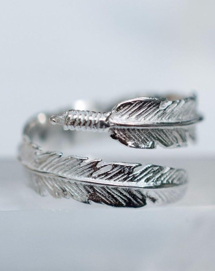 Wings Feather Ring ~Sterling Silver 925~ - Maresia Jewelry