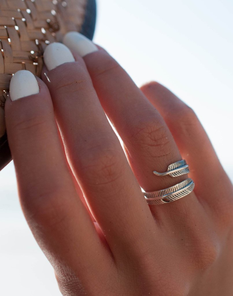 Sea Wings Feather Ring ~ Sterling Silver 925~MR060 - Maresia Jewelry