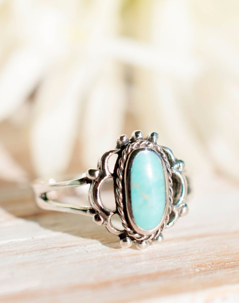Babi Turquoise Ring ~Sterling Silver 925~SMR014 - Maresia Jewelry