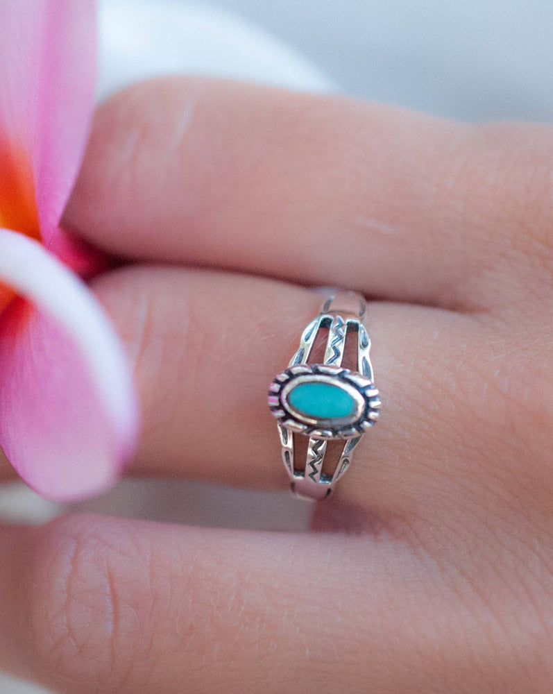 Lapa Turquoise Ring ~Sterling Silver 925~ SMR010