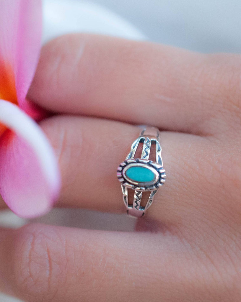 Lapa Turquoise Ring ~Sterling Silver 925~ SMR010 - Maresia Jewelry