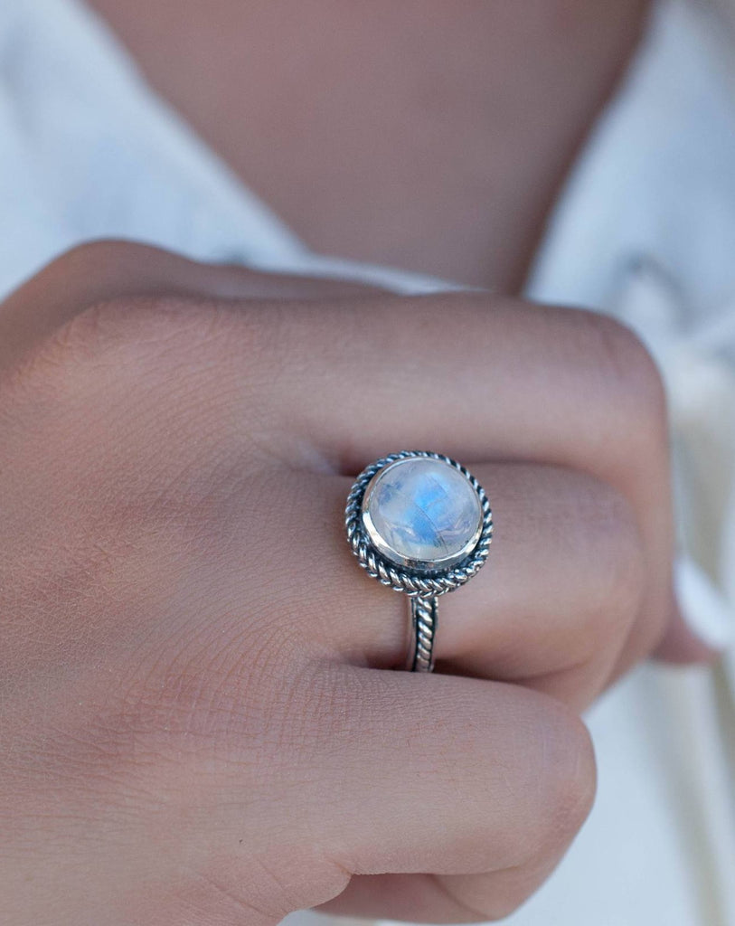 Moonstone ~ Sterling Silver 925 ~MR018 - Maresia Jewelry
