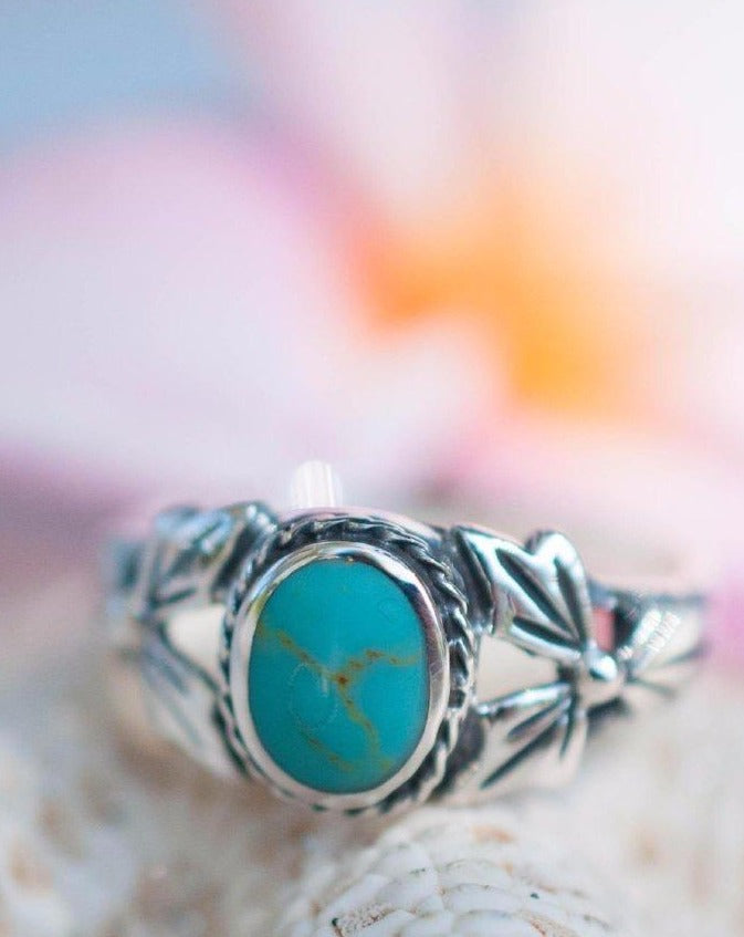 Turquoise Ring ~ Sterling Silver 925 ~SMR018 - Maresia Jewelry