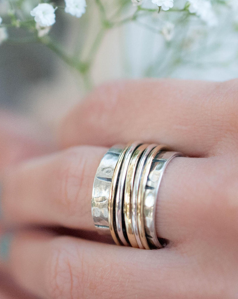 Spinner Ring ~ Sterling Silver 925 & Bronze ~ MS004 - Maresia Jewelry