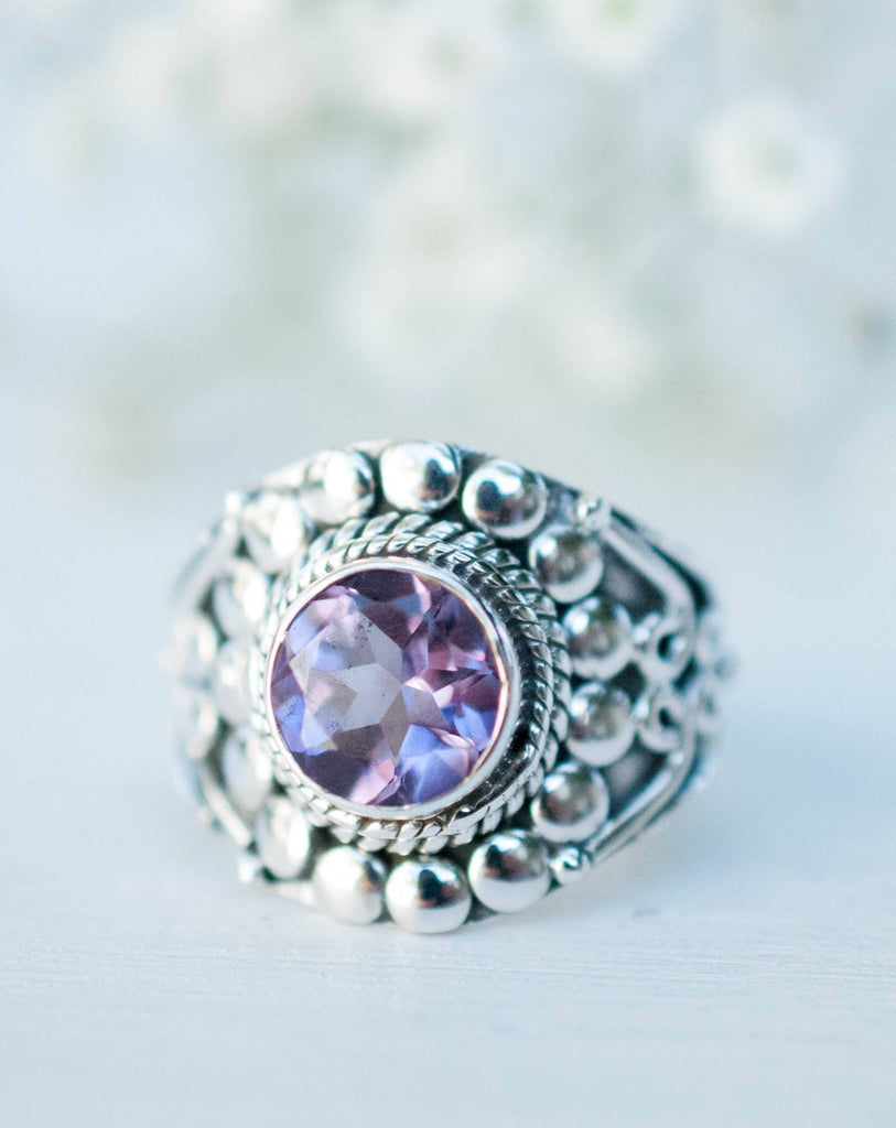 Amethyst Ring ~ Sterling Silver 925 ~MR099A - Maresia Jewelry