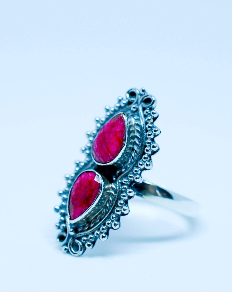 Ruby Ring ~ Sterling Silver 925 ~ MR040 - Maresia Jewelry