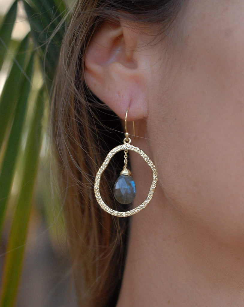 Labradorite 18k Gold Plated Earrings ~ ME020 - Maresia Jewelry