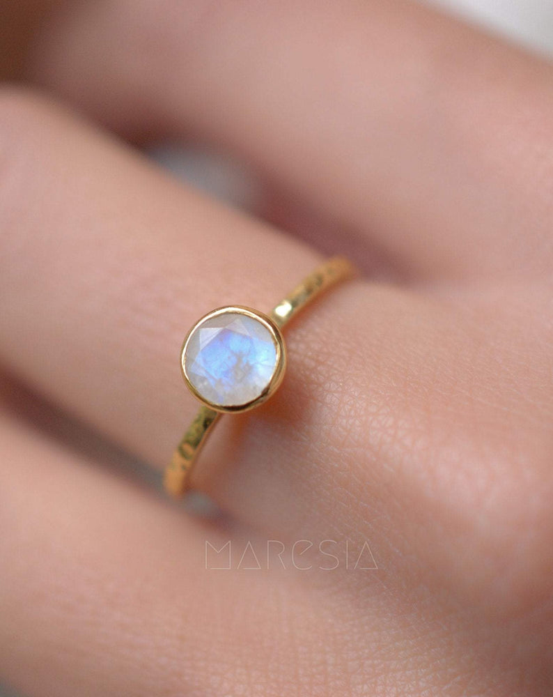 Moonstone Ring ~ 18k Gold Plated ~MR101A