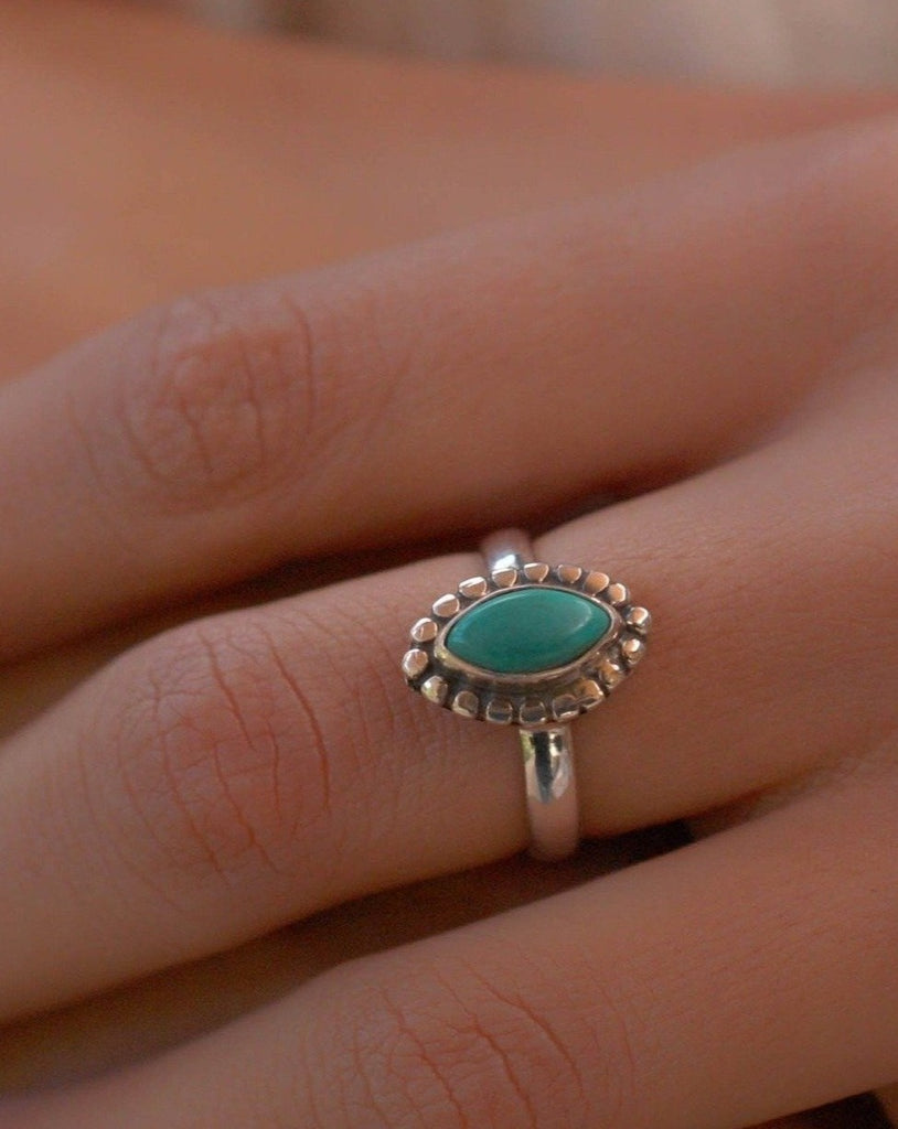 Turquoise Ring ~ Sterling Silver 925 ~MR135 - Maresia Jewelry