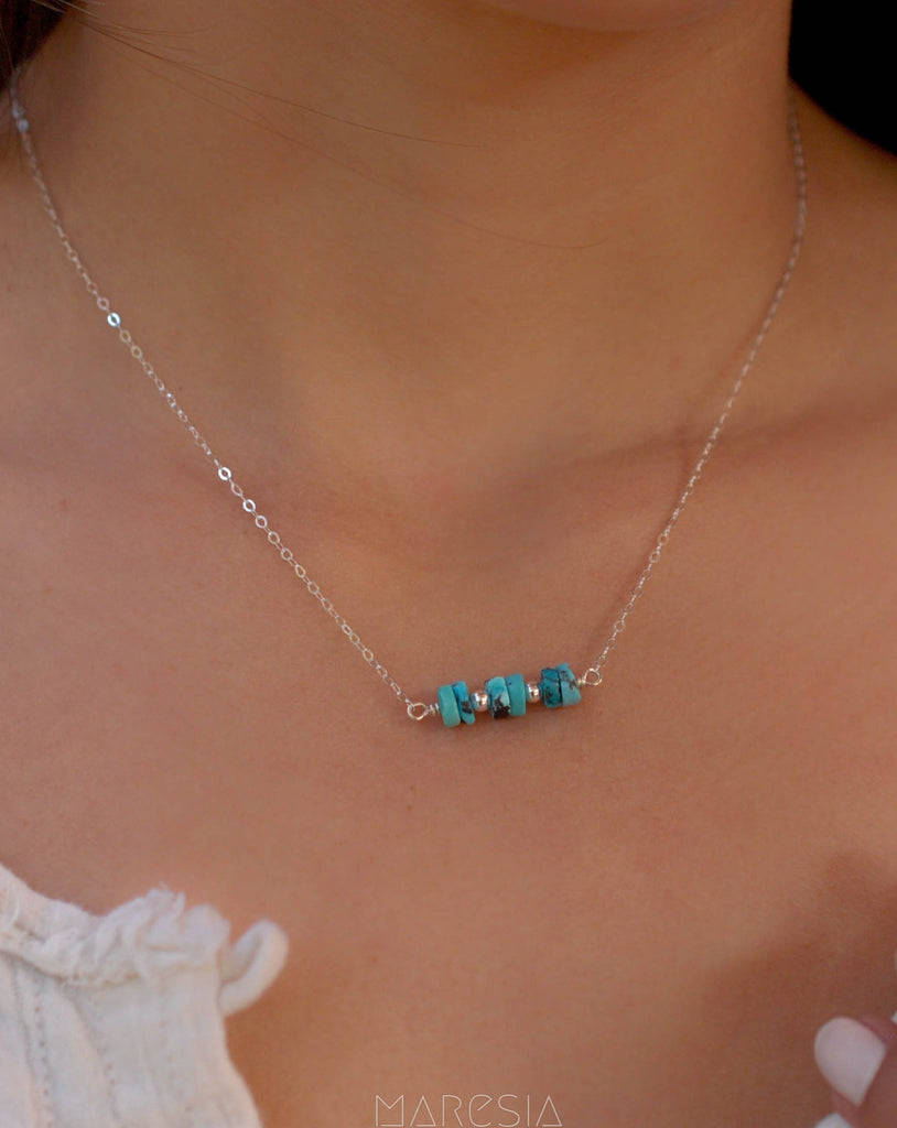 Turquoise necklace~ Sterling Silver 925 or Gold Filled - Maresia Jewelry