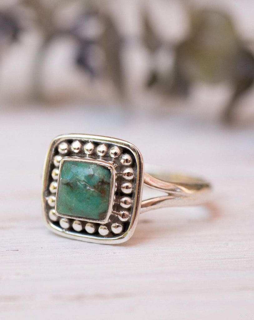 Turquoise Ring ~ Sterling Silver 925 ~MR155 - Maresia Jewelry
