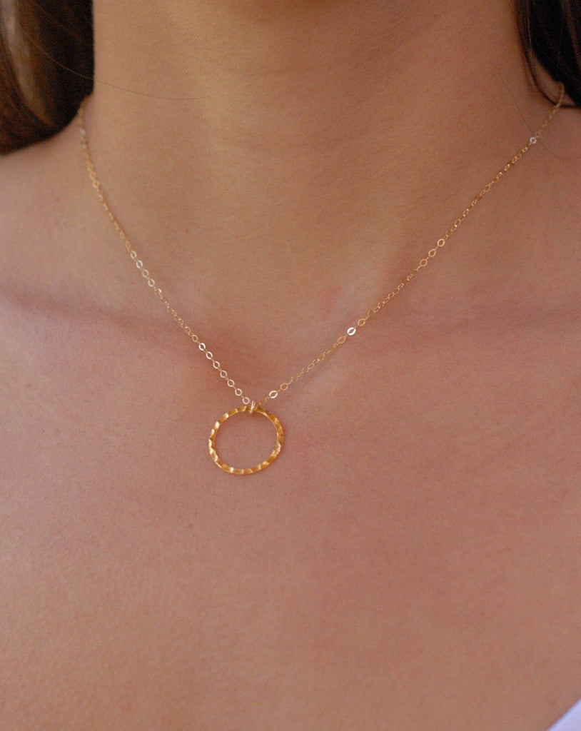 Circle Necklace ~ Gold Filled - Maresia Jewelry