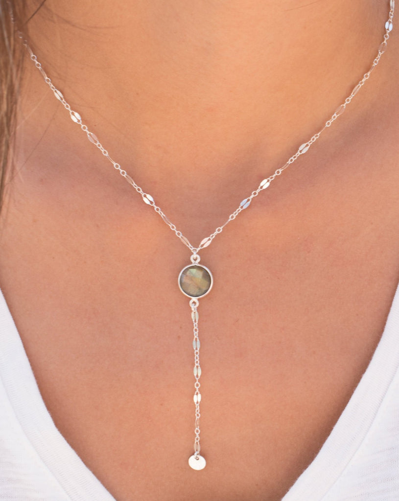 Labradorite Necklace ~ Sterling Silver 925 or Gold Filled - Maresia Jewelry