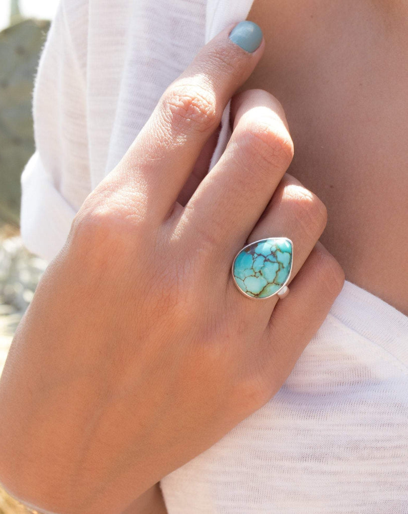 Turquoise Ring ~ Sterling Silver 925 ~MR088 - Maresia Jewelry