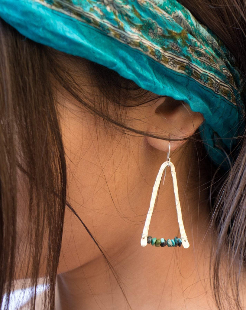 Turquoise Earrings ~ Sterling Silver 925 - Maresia Jewelry