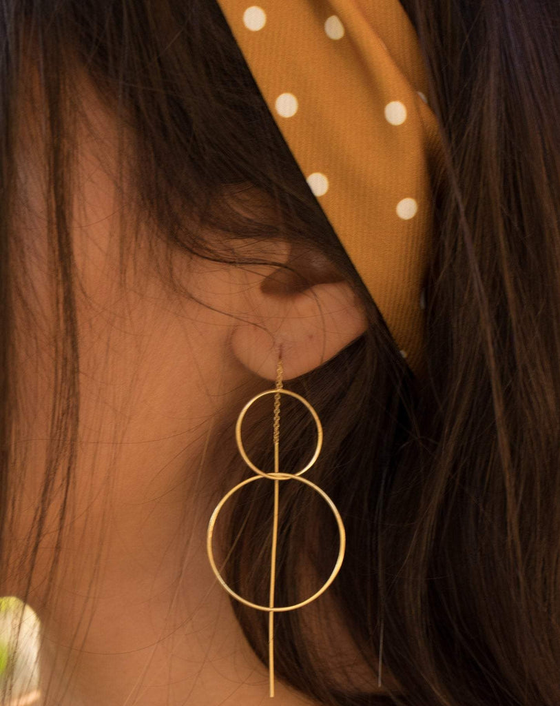 Threader Earrings ~ 18k Gold Plated ~ME095 - Maresia Jewelry