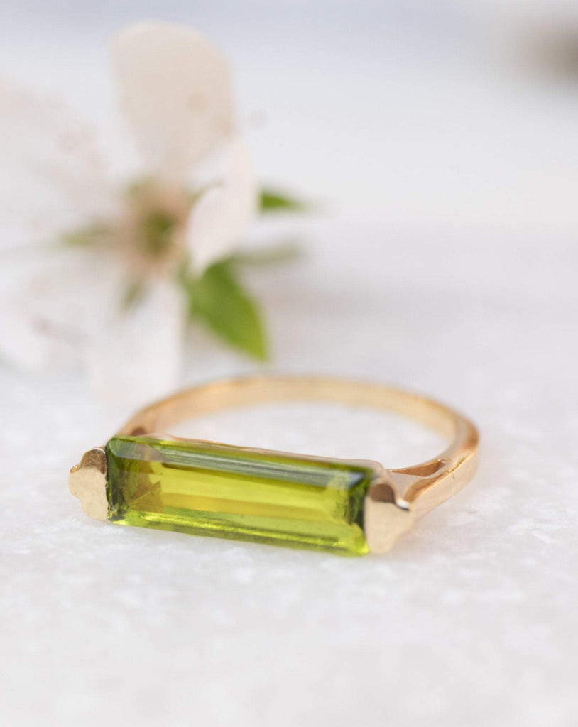 Peridot Hydro Ring ~ 18k Gold Plated ~MR160 - Maresia Jewelry