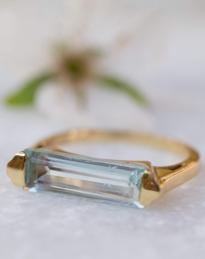 Blue Topaz Hydro Ring ~ 18k Gold Plated ~ MR166 - Maresia Jewelry