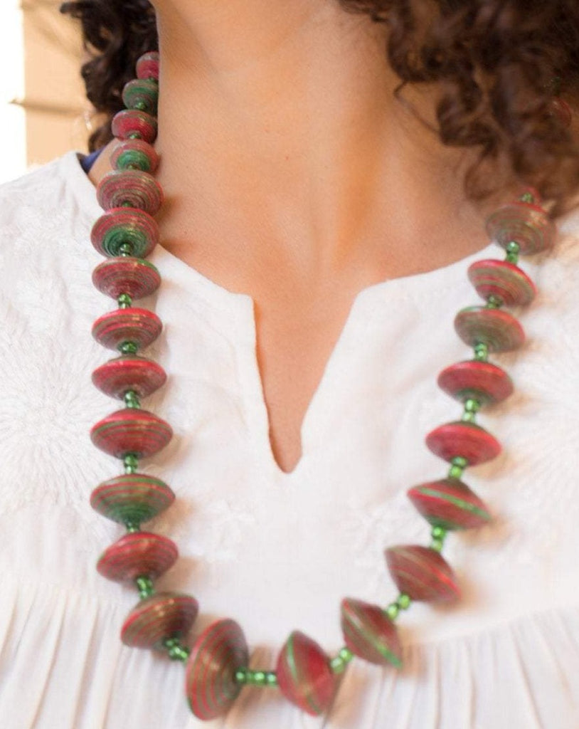 Paper Beads Necklace ~ LN017