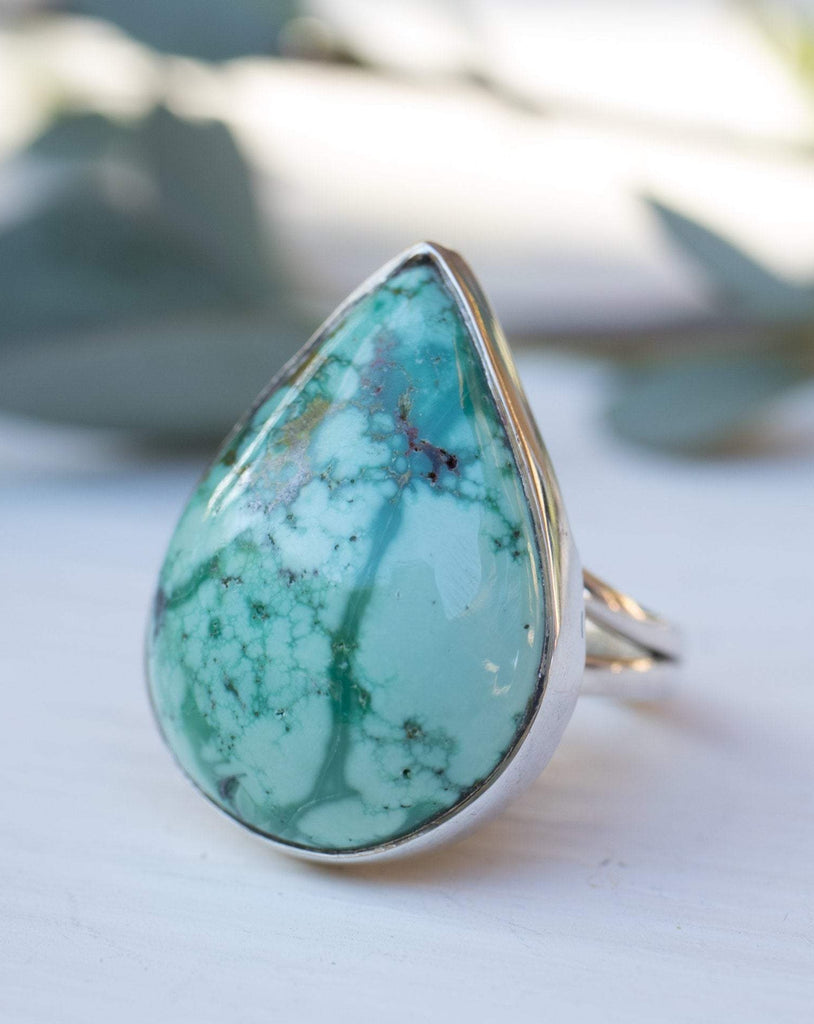 Turquoise Ring ~ Sterling Silver 925 ~  MR087 - Maresia Jewelry