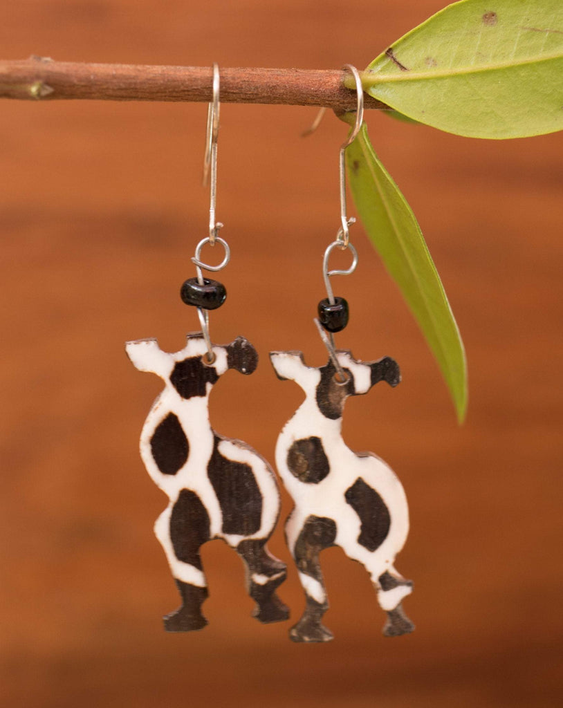 Cow Horn  Earrings ~ Africa LE003