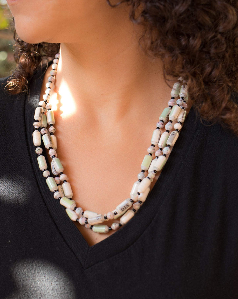 Paper Beads Necklace ~ LN023