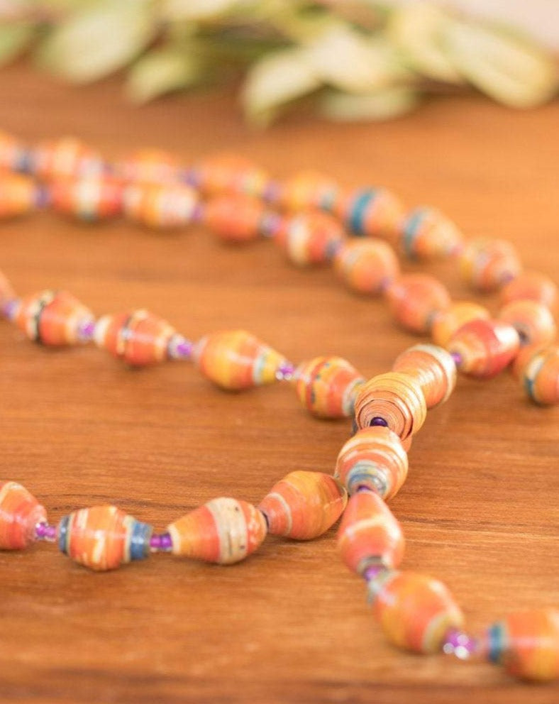 Paper Beads Necklace ~ LN031
