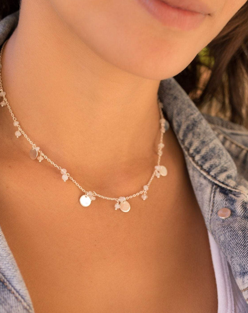 Moonstone Necklace ~ Sterling Silver 925 - Maresia Jewelry